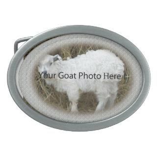 SU del cordón de la cabra de la foto hebilla del Hebilla Cinturón Oval