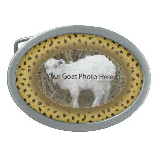 SU del leopardo de la cabra de la foto hebilla del Hebilla Cinturon