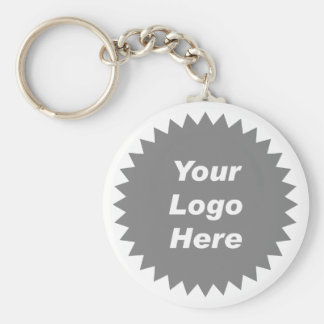 Su del negocio del logotipo promo aquí llavero redondo tipo pin