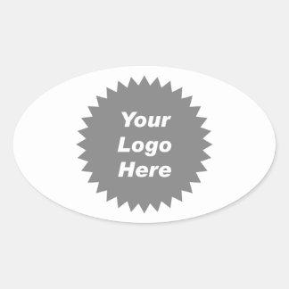 Su del negocio del logotipo promo aquí pegatina ovalada