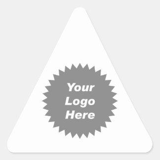 Su del negocio del logotipo promo aquí pegatina triangular