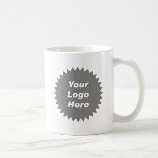 Su del negocio del logotipo promo aquí taza de café