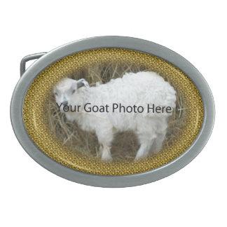 SU del oro del brillo de la cabra de la foto hebil Hebillas Cinturon