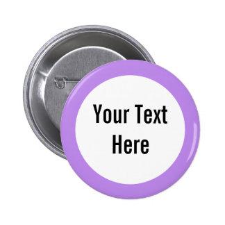 Su del texto botón del personalizado de la fronter pins