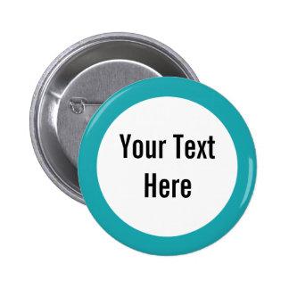Su del texto botón del personalizado de la fronter pin redondo de 2 pulgadas