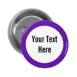 Su del texto botón púrpura del personalizado de la pins