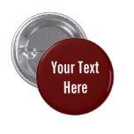 Su del texto botón rojo sólido de encargo del fond pins