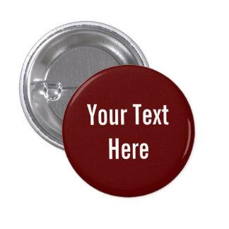 Su del texto botón rojo sólido de encargo del fond pin redondo de 1 pulgada