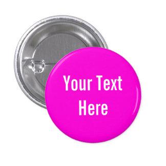 Su del texto botón rosado sólido de encargo del fo pin redondo de 1 pulgada
