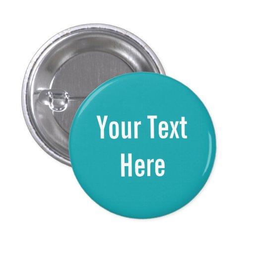 Su del texto botón sólido de encargo del fondo de  pin redondo de 1 pulgada