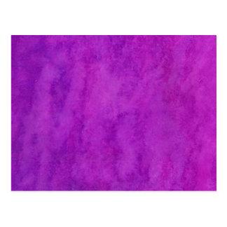 Su del texto fondo púrpura del lavado aquí tarjeta postal
