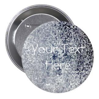 Su del texto Grunge grande, botón de la plantilla Pin Redondo De 3 Pulgadas