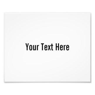 Su del texto impresión de encargo de la foto aquí cojinete