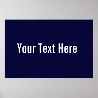 Su del texto poster horizontal de los azules marin
