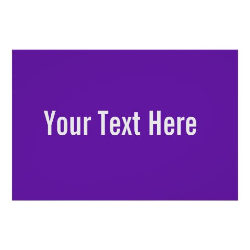 Su del texto poster horizontal púrpura de encargo