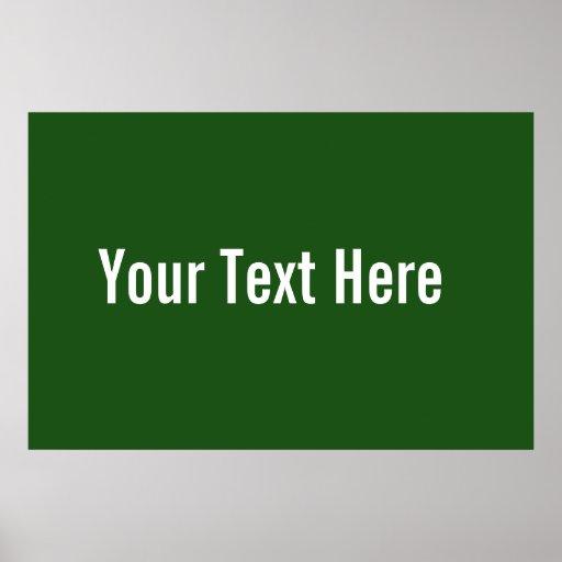 Su del texto poster horizontal verde de encargo aq