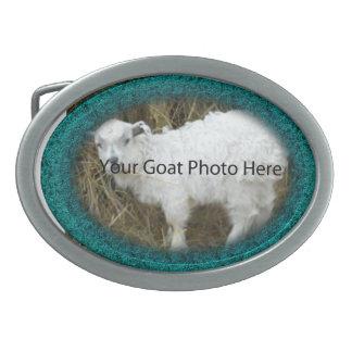 SU del trullo de la cabra de la foto hebilla del c Hebillas De Cinturón Ovales