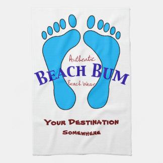 Su destino en desgaste auténtico de la playa del toallas de cocina
