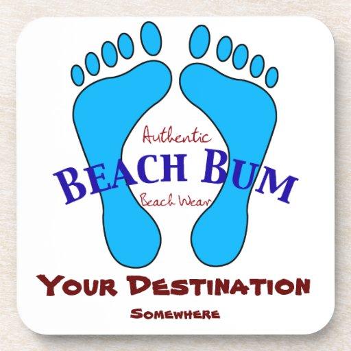 Su destino en desgaste auténtico de la playa del v posavasos de bebida