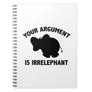 Su discusión es Irrelephant Libreta Espiral