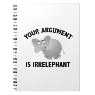Su discusión es Irrelephant Spiral Notebooks