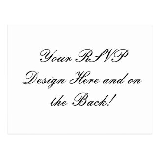 ¡Su diseño aquí! Tarjeta de encargo de RSVP que se Tarjeta Postal