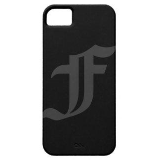 Su diseño gris de la letra y negro masculino iPhone 5 carcasa
