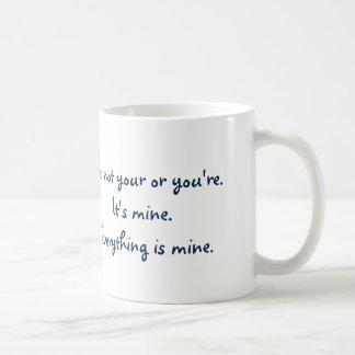 Su divertido usted es gramática taza