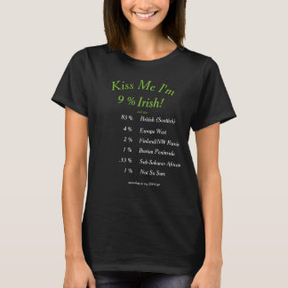 ¡Su DNA probada me besa que soy irlandés! Playera