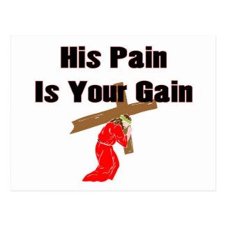 Su dolor es su artículo cristiano del regalo del a tarjeta postal