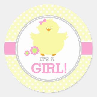 Su Ducky dulce un chica Pegatina Redonda