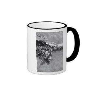 Su ejército rompió para arriba llorar y el sobbing taza de café