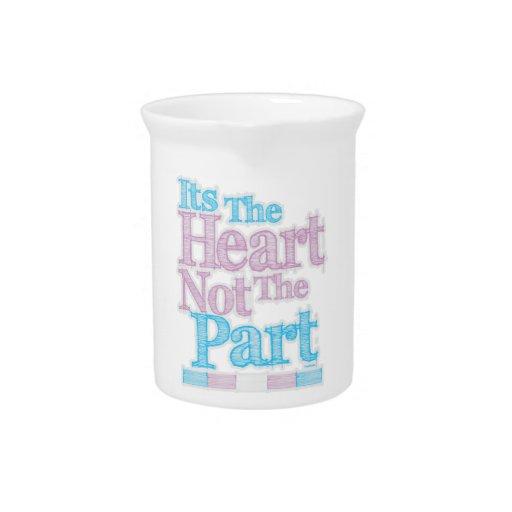 Su el corazón no el transexual de la pieza jarra