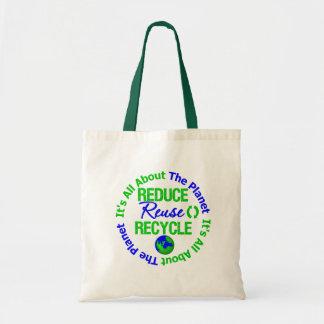 Su el planeta reduce todo alrededor la reutilizaci bolsas lienzo