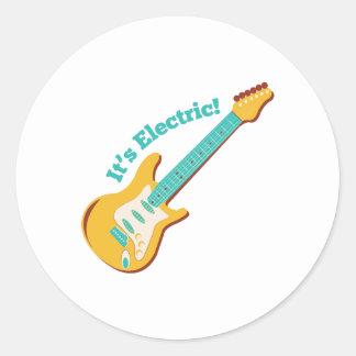 Su eléctrico pegatina redonda
