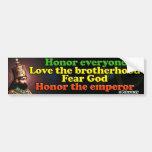 Su emperador imperial Haile Selassie I de la majes Etiqueta De Parachoque