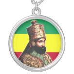 Su emperador imperial Haile Selassie I de la majes Colgante Redondo