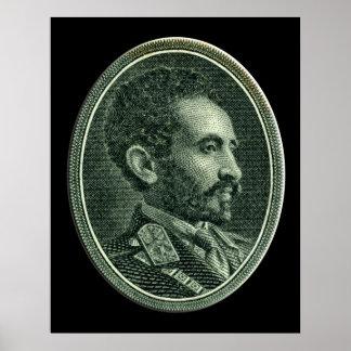Su emperador imperial Haile Selassie I de la majes Póster