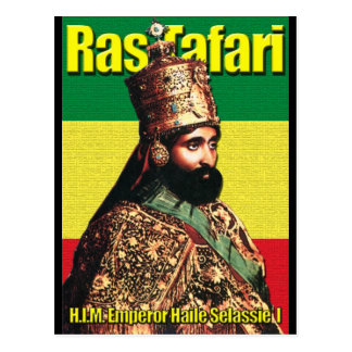 Su emperador imperial Haile Selassie I de la Postal
