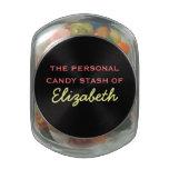 Su escondite personal del caramelo - nombre adapta jarrones de cristal