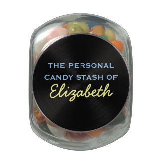 Su escondite personal del caramelo - nombre frascos cristal