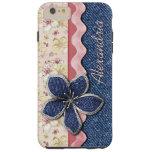 Su estampado de flores lindo conocido del pastel funda de iPhone 6 plus tough