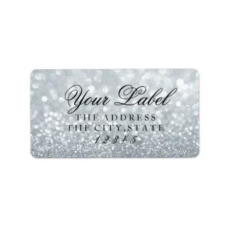 Su etiqueta de encargo - Glit de plata fabuloso Etiquetas De Dirección