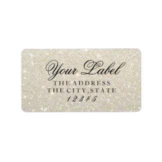 Su etiqueta de encargo - oro blanco Glit fabuloso Etiquetas De Dirección