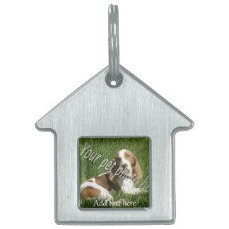 su etiqueta de la caseta de perro del mascota placas de mascota