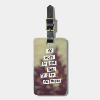 Su etiqueta del equipaje de la vida