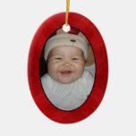 Su etiqueta y ornamento del regalo de la foto adorno