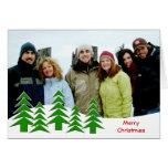 Su feliz árbol de navidad de la foto felicitación