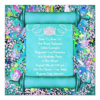 Su fiesta de la princesa cumpleaños de la alteza invitación personalizada