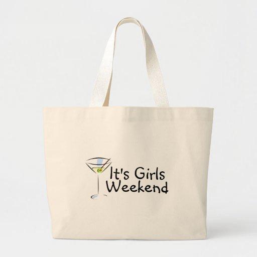Su fin de semana de los chicas bolsa tela grande